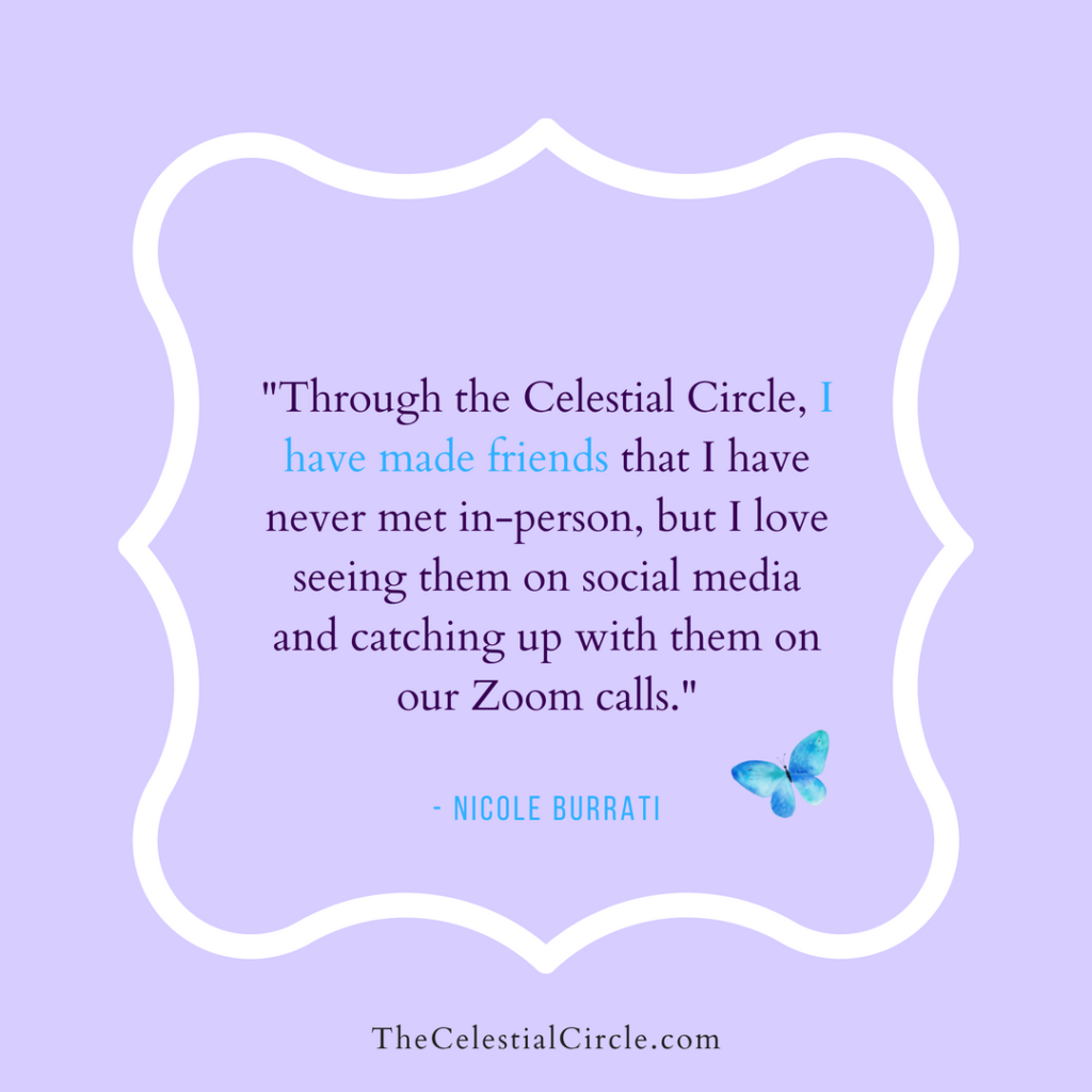 Testimonial by Nicole Buratti about The Celestial Circle