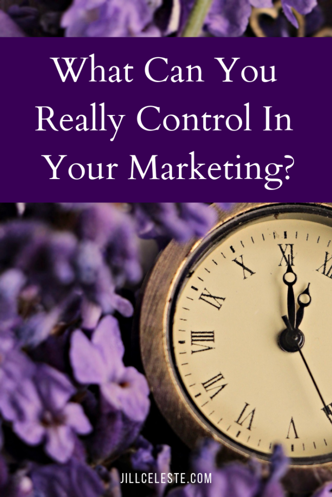What Can You Really Control In Your Marketing? by Jill Celeste