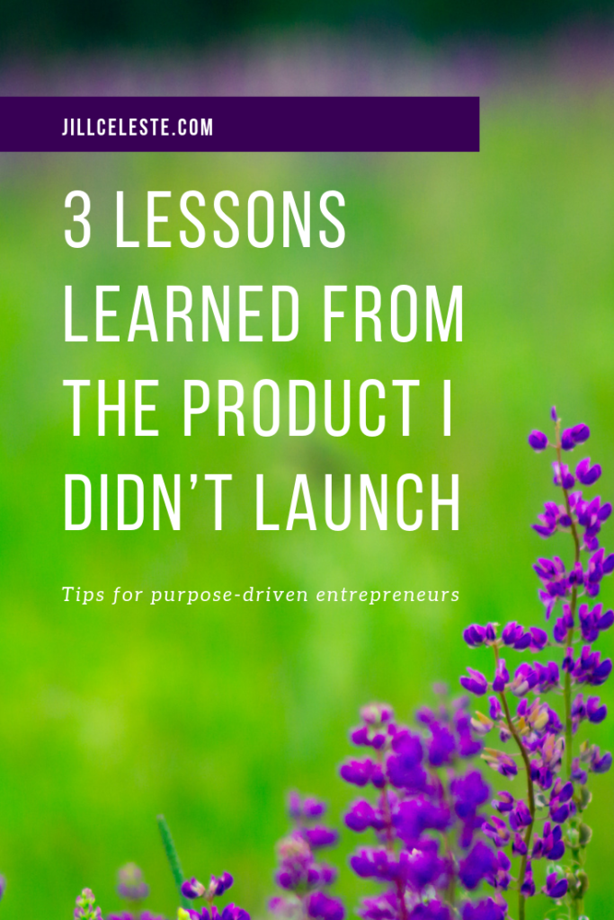 3 Lessons Learned From The Product I Didn't Launch by Jill Celeste