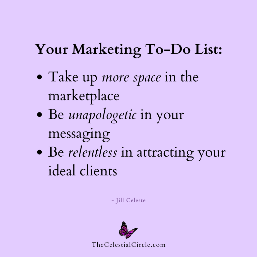 Your marketing to-do list, compiled by Jill Celeste