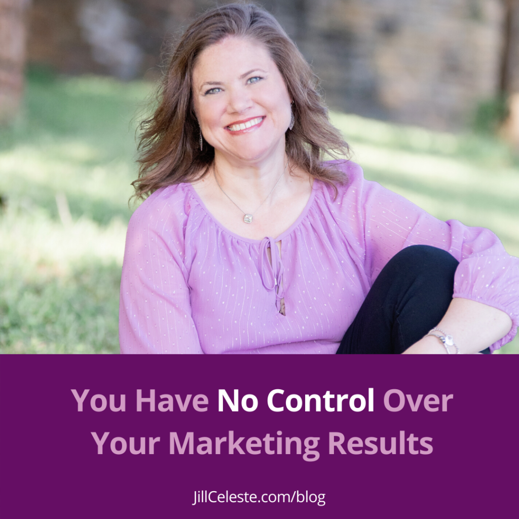 You Have No Control Over Your Marketing Results