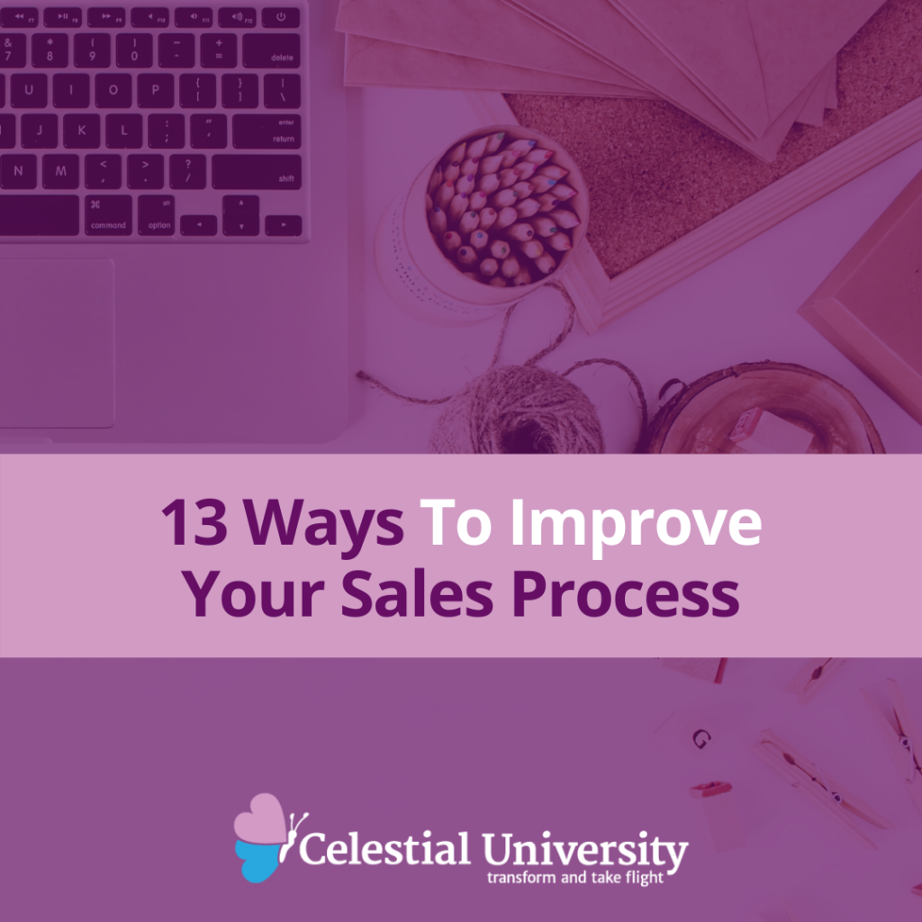 13 Ways To Improve Your Sales Process