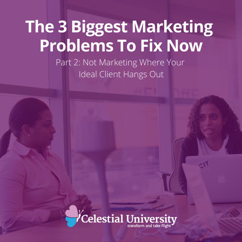The 3 Biggest Marketing Problems To Fix Now, Part 2: Not Marketing Where Your Ideal Client Hangs Out