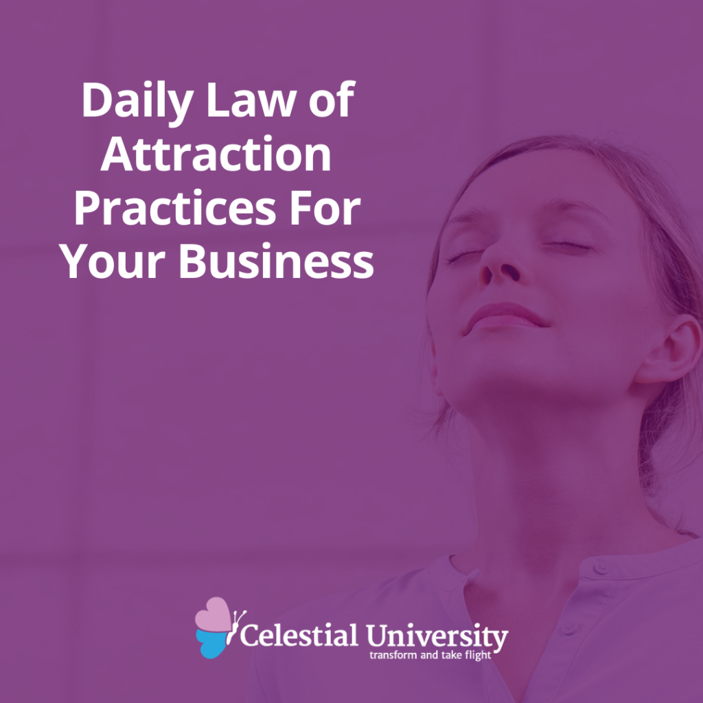 Daily Law of Attraction Practices For Your Business